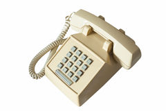 Old telephone isolated Stock Images