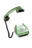 Old telephone with lifted handset Stock Photos