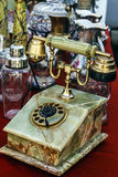 Old telephone with marble casing Royalty Free Stock Photography