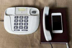Phones old and modern Stock Images