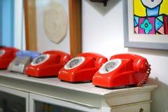 Old telephone. Retro,vintage telephone Stock Photos