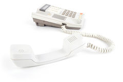 Old Telephone with pick up receiver Stock Photo