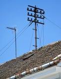 Old telephone pole Stock Image