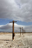Old Telephone Poles at the Salton Sea Stock Images