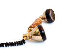 Old telephone receiver Stock Images