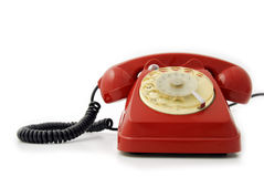 Old Telephone red Stock Photo