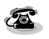 Old telephone ringing Royalty Free Stock Photo