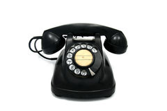 Old telephone with rotary dial Stock Photos