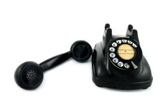 Old telephone with rotary dial Royalty Free Stock Image