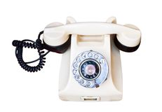 Old telephone with rotary dial Royalty Free Stock Photography