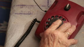 An Old Telephone With Rotary Dial. HD stock video