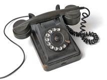 Old telephone set. Royalty Free Stock Photo