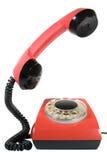 Old telephone set. An old telephone set on white stock image