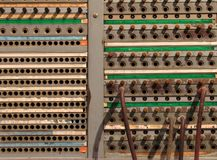 Old Telephone Switchboard Stock Photography