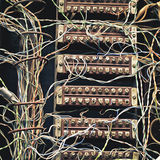 Old telephone switchboard Stock Image