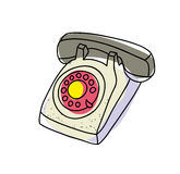 Old telephone. Vector illustration. Stock Photography