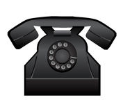 Old telephone. Vector illustration of old telephone with earphone and with large numbers on dial. Eps format is available Royalty Free Stock Photography