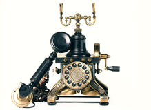 Old telephone on white background Stock Photography
