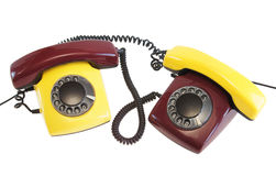 Old telephones Stock Images