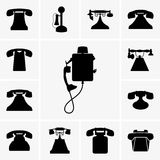 Old telephones Stock Photography