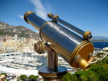 Old Telescope in Monaco Royalty Free Stock Images