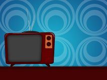 Old television. Illustration of an old television retro style stock illustration