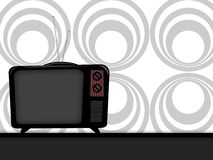 Old television. Illustration of an old television retro style Royalty Free Stock Photography