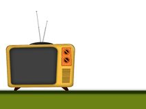 Old television. Illustration of an old television retro style Royalty Free Stock Photo