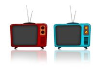 Old television. Illustration of an old television retro style Stock Image