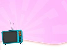 Old television. Illustration of an old television retro style Stock Photo