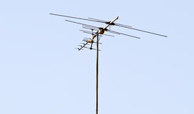 Old television antenna Royalty Free Stock Photos