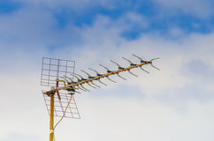 Old television antenna Stock Images