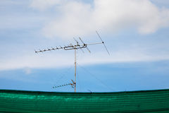 Old television antenna Royalty Free Stock Image