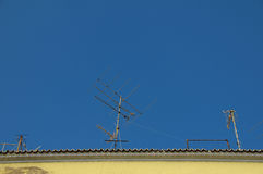 Old television antenna Royalty Free Stock Photo