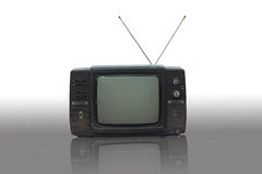 Old Television. Old antique TV on white background Royalty Free Stock Photography