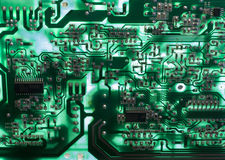 Old television circuit board Stock Photos