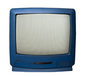 Old television with clipping path Stock Images
