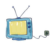 Old Television Drawing Stock Image