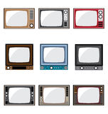Old Television Icons Stock Photography