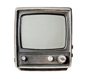 Old television isolate on white Royalty Free Stock Photos