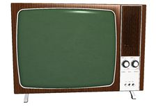 Old television isolated Stock Photo