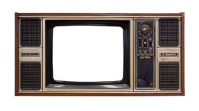 Old television isolated Royalty Free Stock Image