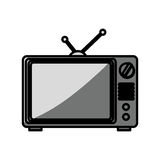 old television isolated icon Stock Photo