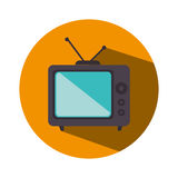 old television isolated icon Royalty Free Stock Images