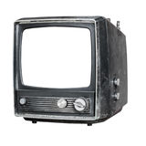 Old television isolated Royalty Free Stock Photography