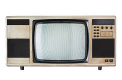 Old television. Isolated on white royalty free stock photography