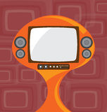 Old Television with Retro Background Royalty Free Stock Photo