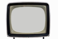 Old television set. Old lamp television set of the twentieth age with an isolation on a white background Royalty Free Stock Image