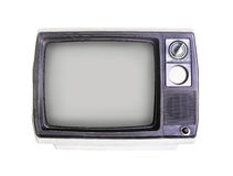 Old television on white Royalty Free Stock Images