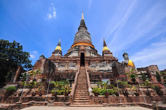 Old Temple. Of Ayuthaya, Thailand stock photo